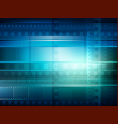 old movie background blue toning vector image