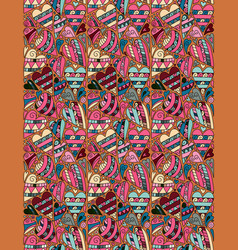 pastel pink blue beige colors hearts vertical vector image