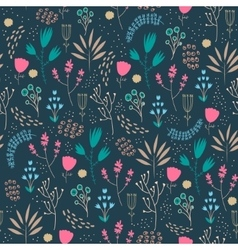 seamless floral pattern Romantic cute vector image