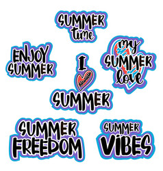 set of hand drawn lettering vector image vector image