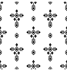 Tribal ornament pattern vector image vector image