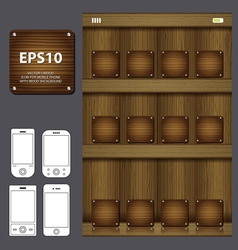 wood icon for mobile vector image vector image