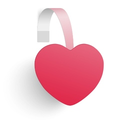 Advertising wobbler looking as a red heart vector image vector image