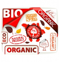 bio eco organic stickers vector image