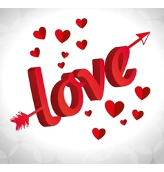 card love form arrow valenties day vector image