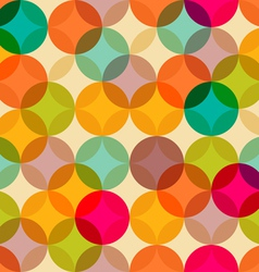 Circles vintage pattern vector image vector image