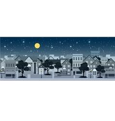 City at night vector image