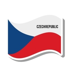 czech republic patriotic flag isolated icon vector image
