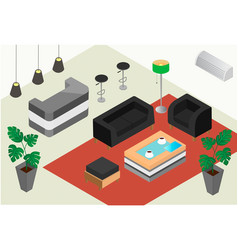 isometric design of a reception office or hotel vector image