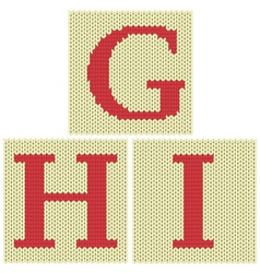 Knitted letters vector image vector image
