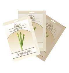 pack of asparagus seeds icon vector image vector image