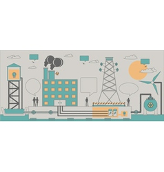 power industry vector image vector image