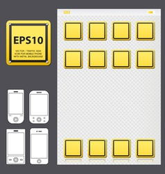 yellowicon for mobile vector image