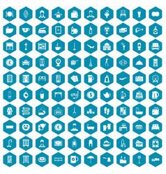 100 inn icons sapphirine violet vector image vector image