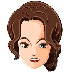 A face of a pretty woman vector image vector image