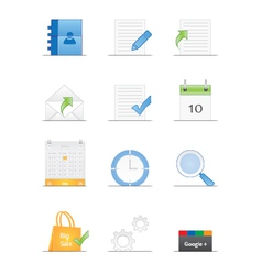 Clean designed web icons vector image vector image