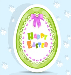Easter egg-laced postcard vector image vector image
