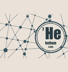 helium chemical element vector image vector image