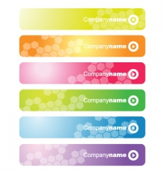 set of web banners vector image vector image