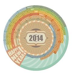 2014 Round Calendar vector