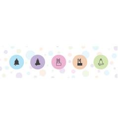 5 bells icons vector