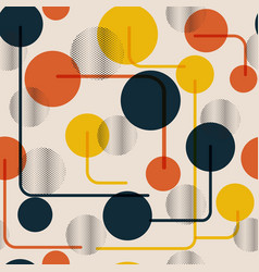 Abstract colorful circle seamless vintage pattern vector