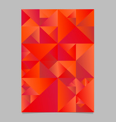 Abstract red geometrical triangle flyer vector