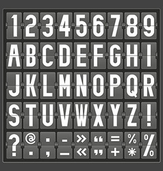 alphabet of mechanical panel vector image vector image
