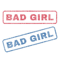 Bad girl textile stamps vector