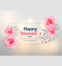 beautiful womens day lovely rose background vector image