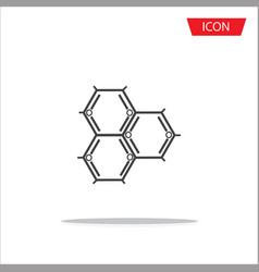 Biochemistry icon atom icon vector