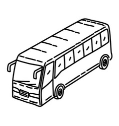 bus icon doodle hand drawn or outline icon style vector image
