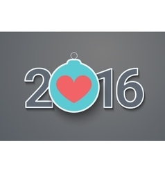 Christmas ball New Years Eve heart vector image