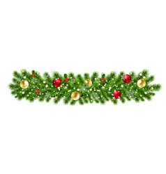 christmas garland isolated background vector image