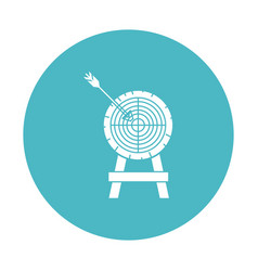circle light blue with arrow on target vector image