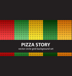Circle pattern set pizza story seamless vector