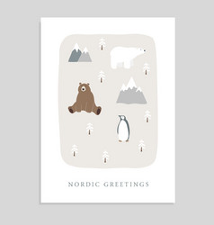 cute merry christmas greeting card invitation vector image