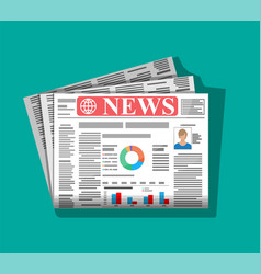 Daily newspaper in color vector