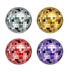 disco ball mirror reflected circle glamorous ball vector image