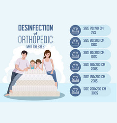 disinfection orthopedic mattress vector image
