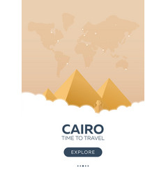 Egypt cairo time to travel travel poster vector