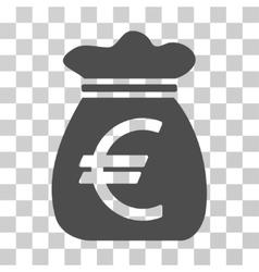 Euro Money Bag Icon vector