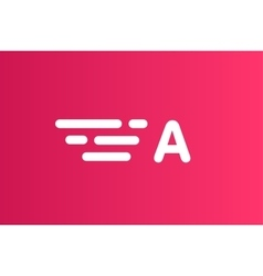 Fast line letter A logo monogram vector image
