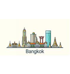 flat line bangkok banner vector image