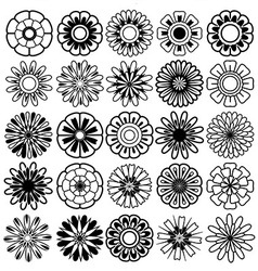 flower set icon vector image vector image