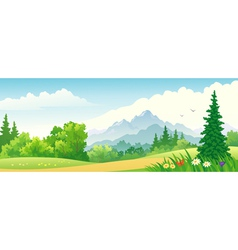Forest banner vector