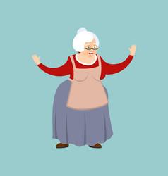 Grandmother happy grandma merry emoji old lady vector