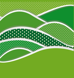 Green mountains of different sizes icon vector