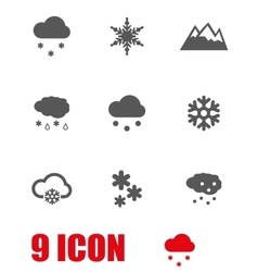 grey snow icon set vector image
