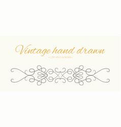 Hand drawn flourishes text divider graphic design vector